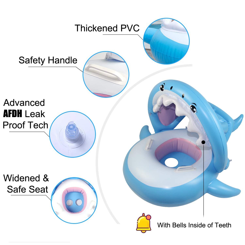 Beautifive Flotadores Piscina para Bebés, Tiburón Hinchable para ...