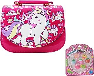 Asera Combo of Plastic Unicorn Sling Bags/Shoulder Bag/Hand Bag/Purse with Fancy Finger Rings for Girls Kids Birthday Retu...