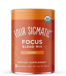 Four Sigmatic Focus Blend, 8 Superfoods Adaptogen Blend Mix with Lion's Mane, Cordyceps, Rhodiola, Bacopa & Mucuna, Produc...