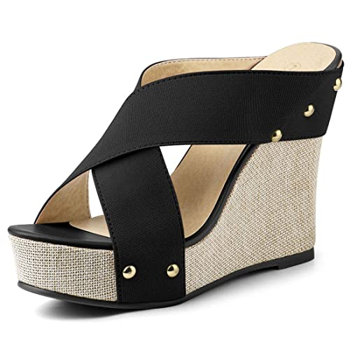 cec0c7fc6e Allegra K Women's Platform Slide Wedge Sandals