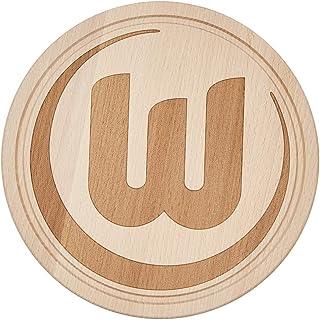 VfL Wolfsburg Holzbrett VFL Logo Durchmesser 22cm