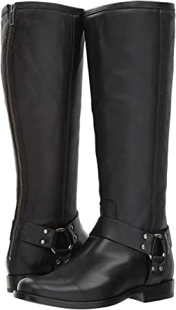 Frye Phillip Harness Tall Wide Calf