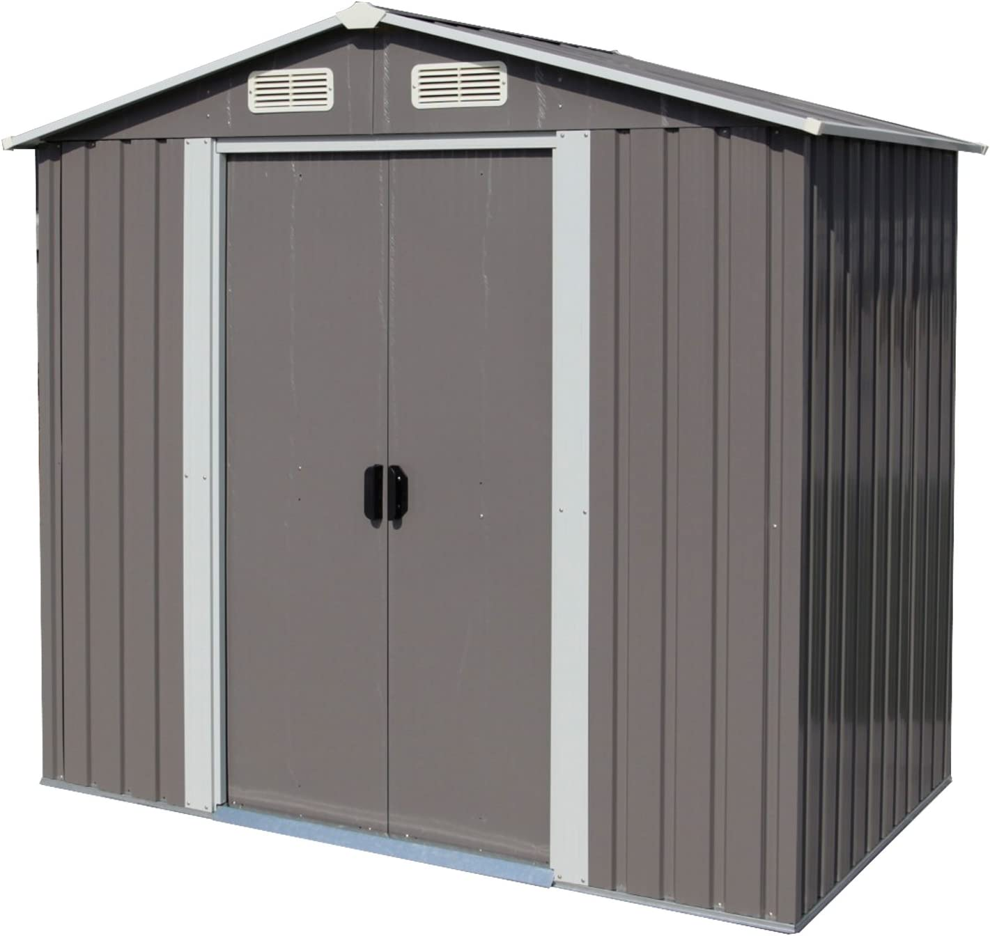 Max 50% OFF Outdoor Storage Shed with It is very popular Vents 6 4 Garden x Metal Uti Feet