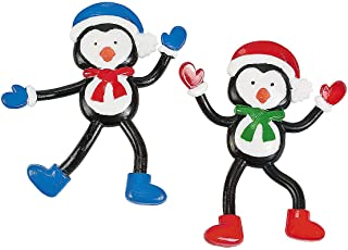 Fun Express - Penguin Bendable for Winter - Toys - Character Toys - Bendables - Winter - 24 Pieces