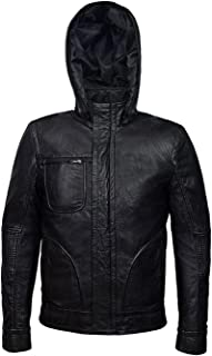 Mission Ghost Impossible Hooded Protocol Leather Jacket Hoodie