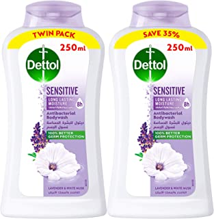 Dettol Sensitive Anti-bacterial Body Wash 250ml Twin Pack