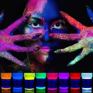 neon nights 8 x UV Body Paint Black Light Make-Up Bodypainting Neon Blacklight Bodypaint Face Paints