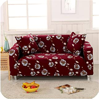 Elastic Sofa Cover Sectional Stretch Slipcovers for Living Room Couch Cover L Shape Armchair Cover Single/Two/Three/Four Seat,Color 10,4-Seater 235-300cm