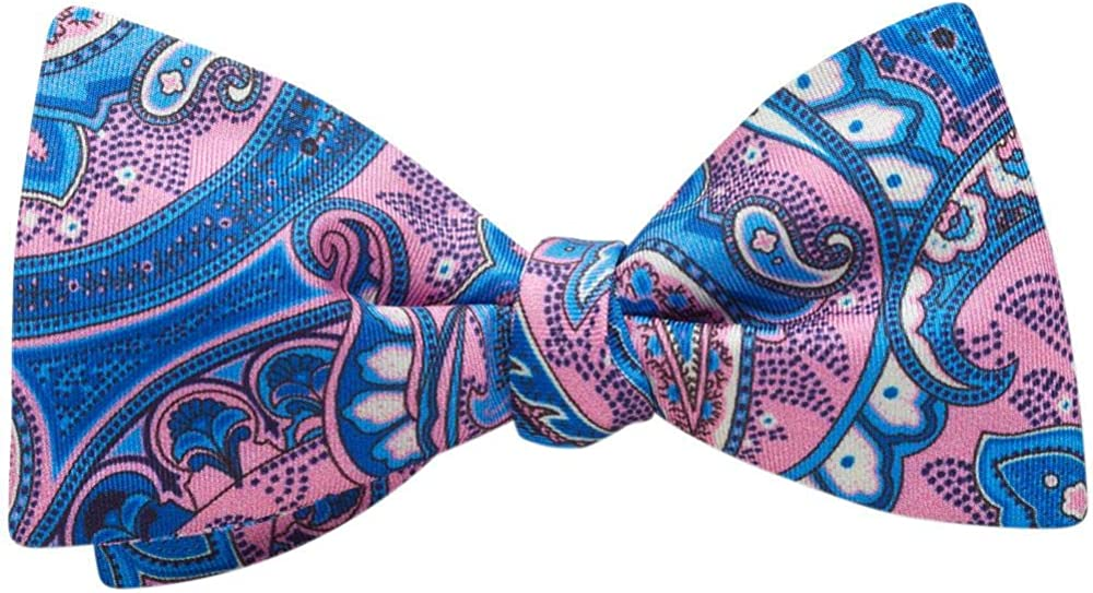 Porto Pink Paisley, Men's Bow Tie, Handmade in the USA