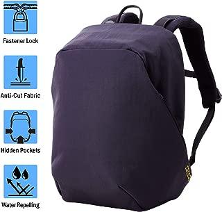 ELECOM-Japan Brand-ESCODE Backpack Bladed Crime Prevention Design Water Repellent Finish Up to 13inch Night Black BM-ESBP01BK