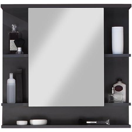 Maisonnerie 1330-403-21 Meuble Salle de Bain Miroir Armoire Murale Tetis Graphite Décor LxHxP 72x76x20 cm