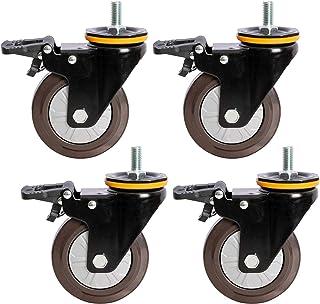 Zwaar uitgevoerde rubberen zwenkwielen Vervangende zwenkwiel, Trolley-meubelwielen, Industriële transportwielen, Scrollwie...