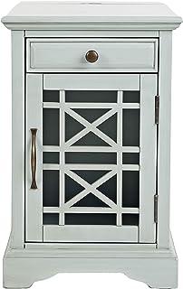 "Jofran Craftsman End USB Charging Station Table, 16"" Wx22 Dx25 H, Earl Grey"