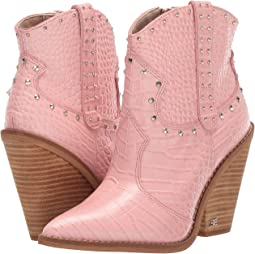 Canyon Pink Kenya Croco Embossed Leather