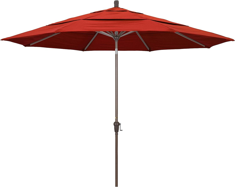 California Umbrella 11' Round Market Crank Aluminum Charlotte Mall Li New product! New type