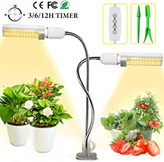 LED Grow Light, 45W Plant Light for Indoor Plants, Sunlike Full Spectrum Grow Lamp for Succulent, Bonsai, Hydroponics Growing, with Auto ON/Off Timer, 3/6/12H Timing, 5 Dimmable Levels