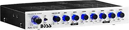 BOSS Audio AVA1210 7 Band Pre-Amp Car Equalizer With Gold-Plated Front/