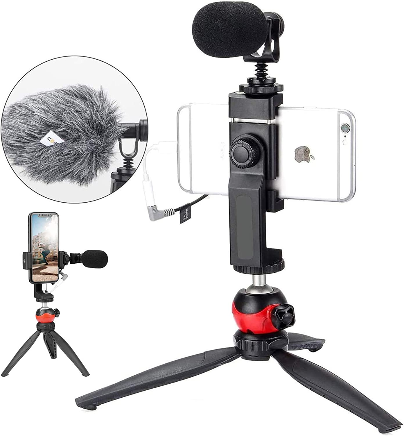 NEW before selling ☆ EACHSHOT Microphone for Seattle Mall iPhone Tripod Equipment Recording with