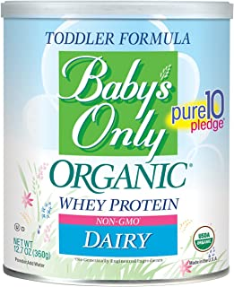 Baby's Only Whey Protein Toddler Formula - Non GMO, USDA Organic, Clean Label Project Verified, 12.7 oz (Pack of 6)