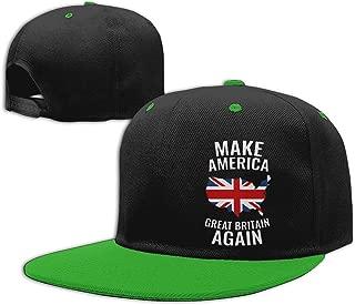 Make America Great Britain Again Personalized Boys and Girls Hip Hop Flat Hat Kids Adjustable Baseball Caps