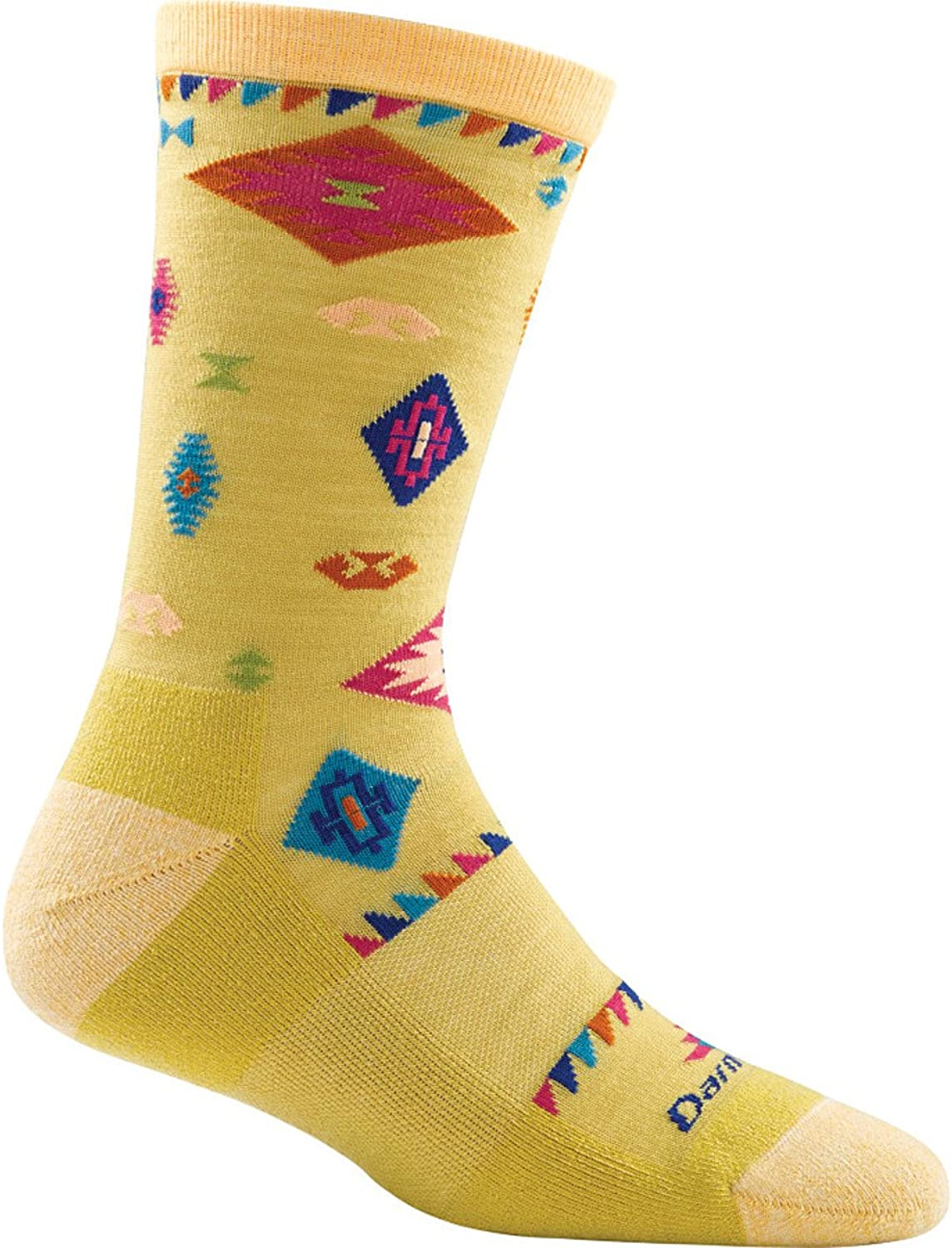 Darn Tough Women's Tribal Crew Light Cushion Socks, Curry Large