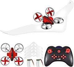 $45 » Gliding Drone, Supkiir Land and air Remote Control Quadcopter for Adult, Portable Mini Helicopter for Beginner with Drone, Glider, Landship Control Mode, 3D Flip, Headless Mode