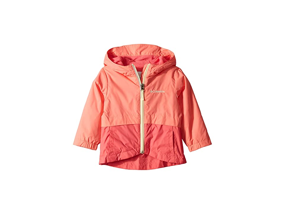Columbia Kids Rain-Zillatm Jacket (Toddler) (Hot Coral/Bright Geranium/Lime Freeze) Girl