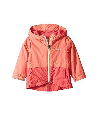 Columbia Kids Rain-Zillatm Jacket (Toddler) (Hot Coral/Bright Geranium/Lime Freeze) Girl