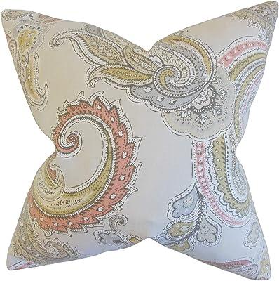 The Pillow Collection Kalani Paisley Clush Down Filled Throw Pillow