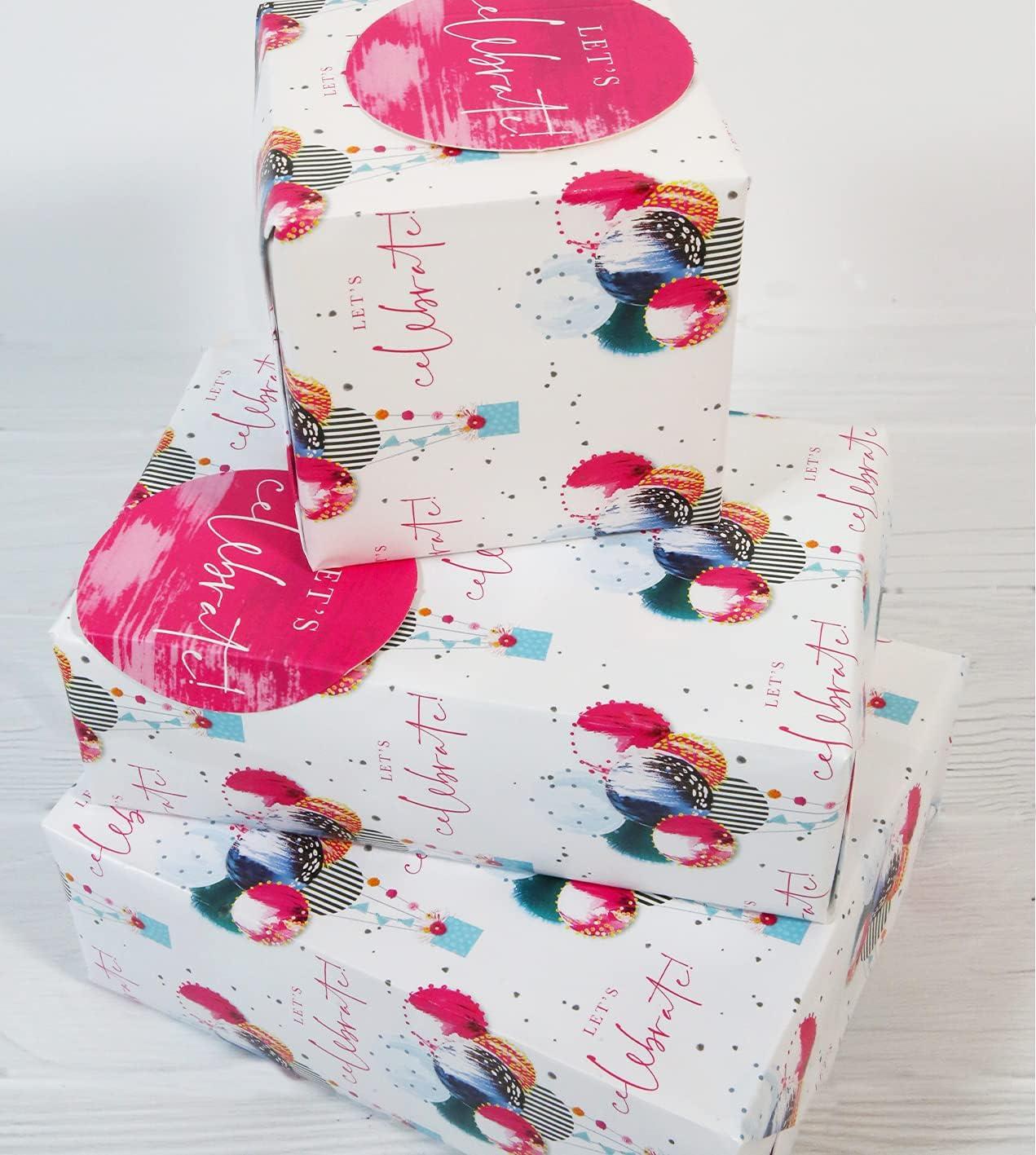 Abacus 12373A - Paquete de papel de regalo con 2 hojas y 2 etiquetas, sin plástico