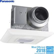 Panasonic FV-0511VQCL1 WhisperSense Ventilation Fan/Light with Motion and Humidity Sensors, Pick-A-Flow Speed Selector, Extremely Quiet, Easy to Install, Energy Star Certified, White