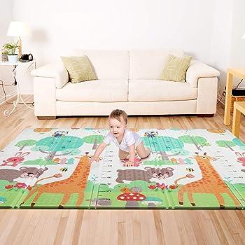 "Bammax Play Mat, Folding Mat Baby Crawling Mat Kids Playmat Waterproof Non Toxic for Babies, Infants, Toddlers, 70"" x 77.5"" x 0.6"""