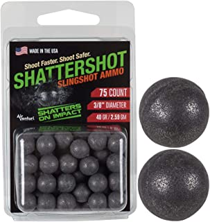 Air Venturi Dust Devil ShatterShot8482; Sling Shot Ammo, 3/8, 39gr, 75ct