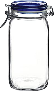 Bormioli Rocco Fido Square Jaw, 1.50 Liter, Clear/Blue