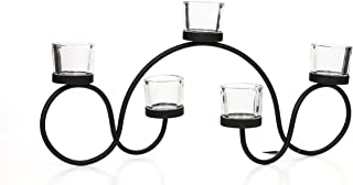 Hosley's 48cm Long Tealight Candle Holder. Hand Made by Artisans. Includes Free Tea Lights. Ideal for Fireplace, Home, Sp...