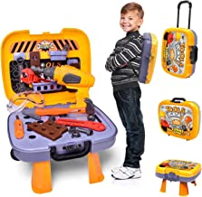 FUN LITTLE TOYS Kids Tool Sets with Electronic Cordless Drill, 36 Pieces Toy Tool..