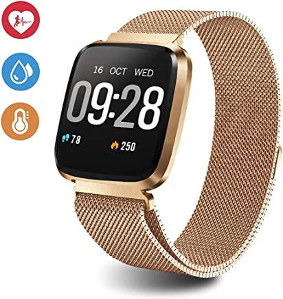 EpochAir 1.3 Inch Fitness Tracker Smart Watch, IP67 Waterproof Activity Tracker with Heart Rate Monitor, Wearable Smart Bracelet Sleep Monitor Step Counter Pedometer Watch for Men Woman