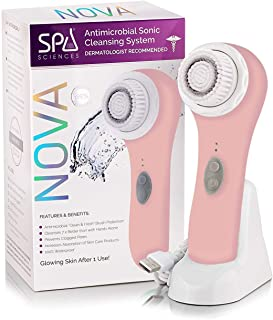 Spa Sciences NOVA – Better than a spin brush – Patented Antimicrobial Sonic Facial Cleansing Brush & Exfoliating System | ...