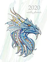 2020 Weekly Planner: Calendar Schedule Organizer Appointment Journal Notebook and Action day With Inspirational Quotes  dragons design (Weekly & Monthly Planner 2020)