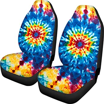 UNICEU Boho Style Colorful Ethnic African Geometric Tribal Print Universal Car Seat Sandle Cover for Front Only,Bright Bucket Seats Protector,Anti-Slip and Durable
