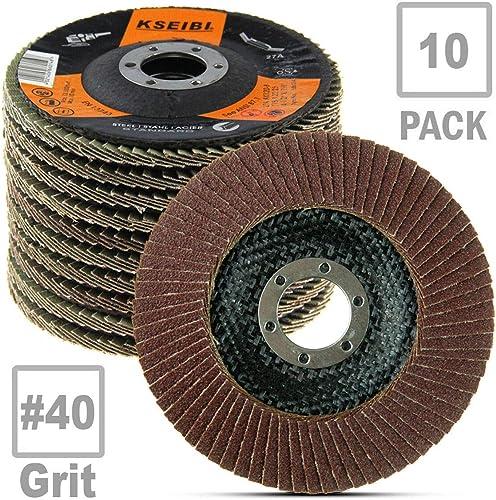 """10X PREMIUM ZIRCONIA FLAP DISC SANDING GRINDING 4-1//2/"""" X 7//8/"""" 60 GRIT US STOCK K"""