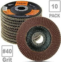 KSEIBI 686008 Aluminum Oxide 4 1/2 in Auto Body Flap Disc Sanding Grinding Wheel 10 Pack (40 Grit)