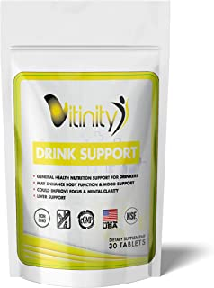 Anti Alcohol Drink Support Supplement - Craving Support,Liver Health,Reduce Alcohol Intake Formula - Kudzu,Milk Thistle Holy Basil,DHM Natural Detoxify,Gradual Reduction,Nutrient Replenisher - 15 Days