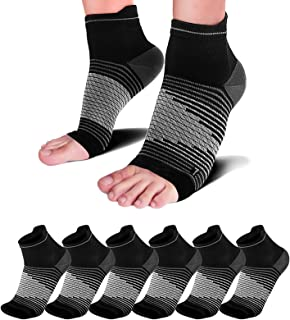Best Plantar Fasciitis Socks(1/2/6 Pairs) for Achilles Tendonitis Relief, Best Compression Foot Sleeves with Arch Support for Plantar Fasciitis, Heel Pain, Foot & Ankle Support Review