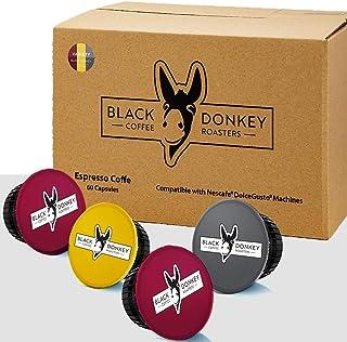 Black Donkey Coffee Roasters - 60 Capsules Compatibles Dolce Gusto (VARIÉTÉ DE CAFÉ, 60 Capsules, 60 Portions)