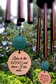 Memorial DIRECT SHIPPING GIFT CUSTOM Gift Wind Chime 28 Inch In Sympathy loss Copper Rush Shipping for Funeral Loss in Memory of Loved One Listen to the Wind Memorial Garden Remembering a loved one