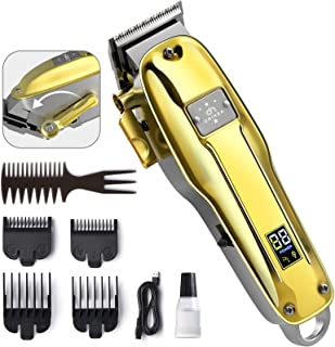 OriHea Hair Clippers for Men, Professional Barber Clippers Cordless Beard Trimmer Grooming Kit with LED Display, Rechargea...