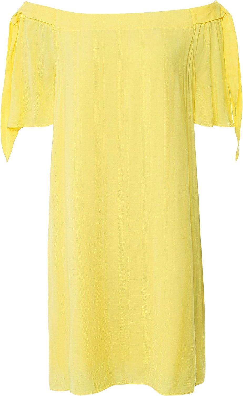 Charli Women's Nera Tie Sleeve Bardot Dress Yellow
