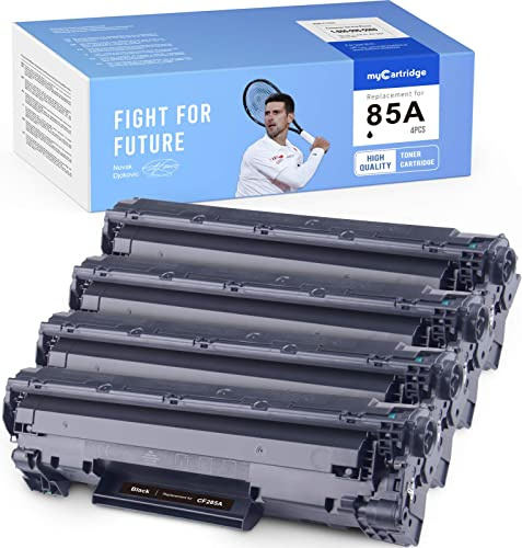 2021 MYCARTRIDGE Compatible Toner Cartridge Replacement for HP 85A CE285A for Laserjet Pro P1102w M1212nf M1217nfw M1210 MFP Pro P1100 P1102 online sale new arrival P1102WHP M1130 M1132 (Black, 4-Pack) outlet online sale