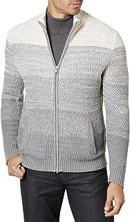 Alfani Men's Ombre Rib-Knit Textured Long Sleeve Full Zip Sweater BHFO
